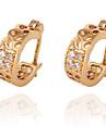 금에 의하여 도금 된 청동 지르콘 귀걸이 ER0265