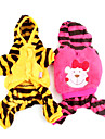 Dog Hoodie / Pants / Clothes/Clothing Yellow / Rose Winter Cartoon / Stripe