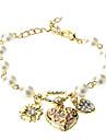 Bohenmia Heart & D avec Perle Bracelets