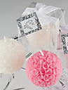 Mini Rose Ball Candle Favor (hvid)