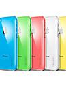 Solid Farve Transparentbagetui For Iphone 5C (Assorteret Farve)
