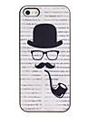 Трубочного табака Pattern ПК Футляр с черной рамкой для iPhone 5/5S