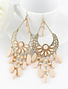 Earring Drop Earrings Jewelry Women Party / Daily Alloy Pink