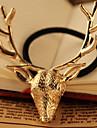 Golden Deer Head Hairtie