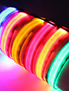 Dog Collar LED Lights / Adjustable/Retractable / Safety Solid Red / White / Green / Blue / Pink / Yellow / Orange Nylon