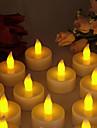 따뜻한 노란색 빛 실내 LED 배터리 운영하는 티 라이트 (12 개)