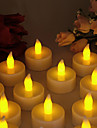 Warm Yellow Light Indoor LED-Batterie betrieben Teelichter (12 Stueck)