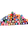 20pcs bonito Flowers 3D Nail Art FIMO Canes Rods Decoracao