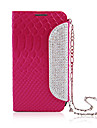 Zircon Covered Handbag Design Leather Full Body Case for Samsung Galaxy S4 I9500(Assorted Color)