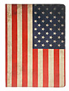 Retro Style American Flag Pattern PU Full Body Case with Stand for iPad Air