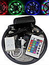 Waterproof 5M 300X3528 Smd Rgb Led Strip Light and 24Key Remote Controller and Ac110-240V to Dc12V3A Transformer