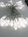 4.5M 3W 30-LED White Light LED Solar Strip Light for Christmas Decorations