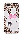 Joyland TPU Glitter Leopard Grain Rabbit Back Case for iPhone 5/5S