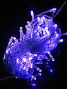 10M 6W 100-LED Blue Light LED Solar luz de tira para Decoracoes de Natal (110-120V/220-240V)