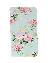 Малый Свежий Florals Зеленый кожаный чехол с подставкой для Iphone 4/4S