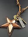 Homme Pendentif de collier Colliers Vintage Forme d'Etoile Cuir Fait à la main Bijoux Pour Quotidien Décontracté