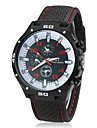 Men\'s Racing Style Black Rubber Band Quartz Analog Wrist Watch (Assorted Colors) Cool Watch Unique Watch