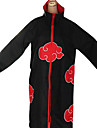 Inspired by Naruto Akatsuki Anime Cosplay Costumes Cosplay Suits Print Black / Red Long Sleeve Cloak