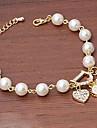 MISSING U Alloy / Imitation Pearl / Rhinestone Bracelet Chain & Link Bracelets / Strand Bracelets Daily / Casual 1pc
