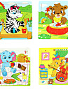 16Pcs/Lot Wooden Jigsaw Puzzle Educational Toys (Random Color)