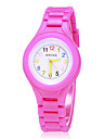 Children\'s Colorful Dial Silicone Band Quartz Analog Wrist Watch (Assorted Colors)