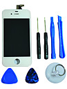 LCD는 iPhone 4S를위한 Framee 및 조립 도구와 유리 터치 스크린 디지타이저를 표시