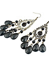 Elegant Bohemia Black Water-Drop Earrings