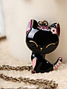 Sweet (Lovely Black Cat Pendant) Gold Alloy Pendant Necklace (1 Pc)