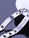 Joyeria personalizada Hombre de regalo de acero grabado pulseras de identificacion inoxidable 1.2cm Ancho