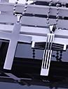 Персональный подарок Мужская ювелирные изделия нержавеющей стали крестообразный гравировкой ожерелье с 60см цепи