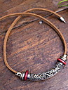 Necklace Statement Necklaces Jewelry Party / Daily / Casual Fashion Leather Brown 1pc Gift