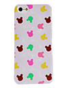 For iPhone 5 Case Transparent Case Back Cover Case Animal Hard PC iPhone SE/5s/5
