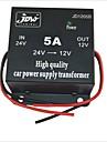 JD1205 DC 24V to 12V Car Power Supply Converter - Black