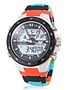 Unisex Analog-Digital Colorful Plastic Band Multi-Functional Sporty Wrist Watch Cool Watches Unique Watches