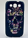 Flowers Decorated Skull Pattern Hard Case for Samsung Galaxy S3 I9300