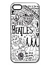 Mystic Zone Popular Band The Beatles Pattern Plastic Hard Case for iPhone 5/5S