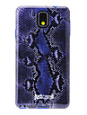 Blue Snake Skin Pattern Soft Anti-Shock Back Case Cover for Samsung Galaxy Note3 N9000