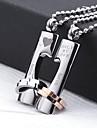 Золотистый / Серебро - Нержавеющая сталь - унисекс - Персональный подарок - Ожерелья -