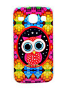 Colorful Diamond Puzzle Owl Cartoon Pattern Soft Case for Samsung Galaxy Core I8262