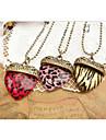 Stripe Peach collier pendentif européenne Leopard coeur d'alliage (plus de couleurs) (1 PC)