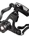 800 Lumen CREE XM-L XML T6 LED rechargeable phare Zoomable Phare Zoom avant / arriere