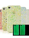 Glow in the Dark Snow Flake Hard Case fuer iPhone 4/4S (zufaellige Farbe)