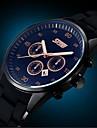 Men\'s Business Style Calendar Black Rubber Band Wrist Watch (Assorted Colors)
