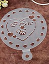 Environmental Protection PP Spray Flowers Die Hard Spray Loving Heart Cake Mold