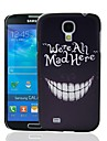 We're all mad here Pattern Plastic Hard Protective Case for Samsung Galaxy S4 i9500