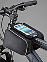Cycling Bike Bicycle Front Top Tube Frame Pannier Double Bag Pouch for 5 inch Cellphone