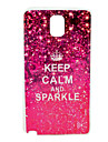 Keep Calm and Sparkle Designs Soft Case for  Galaxy Note 3 N9000
