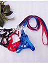 Cat Dog Harness Leash Adjustable/Retractable Solid Nylon Black Red Blue