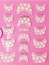 3D Rhinestone francesa Lace Nail Art Stickers XF Series No.862