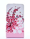 Padrão ameixa flor PU Leather Case Full Body para LG Optimus L5 II/E460